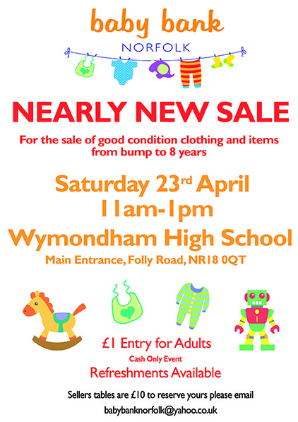 Wymondham Nearly New Sale -23rd April 2016